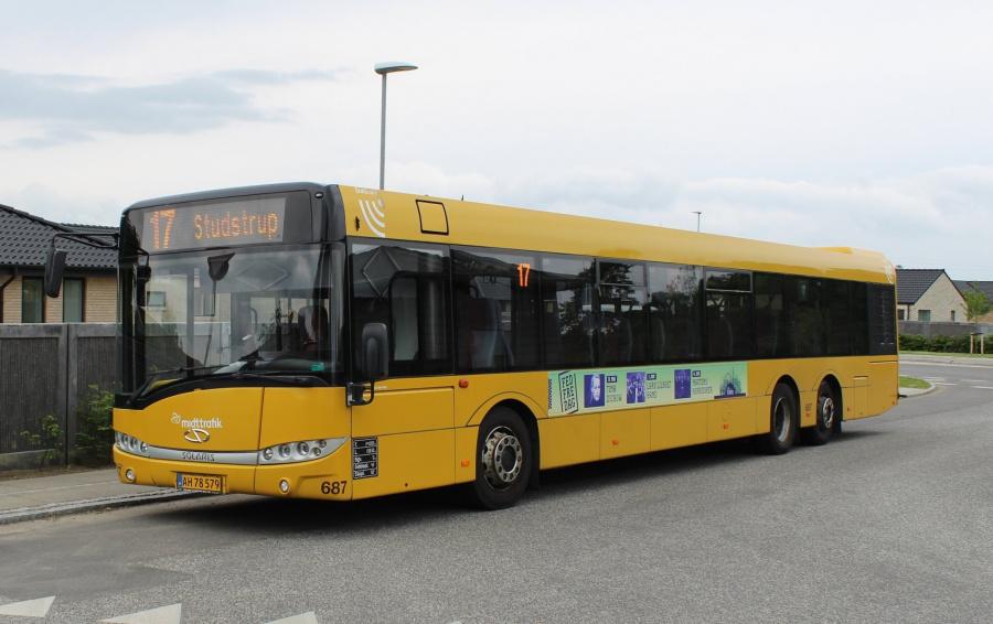 Århus Sporveje 687/AH78579 på Lystenlund i Solbjerg den 3. juni 2019