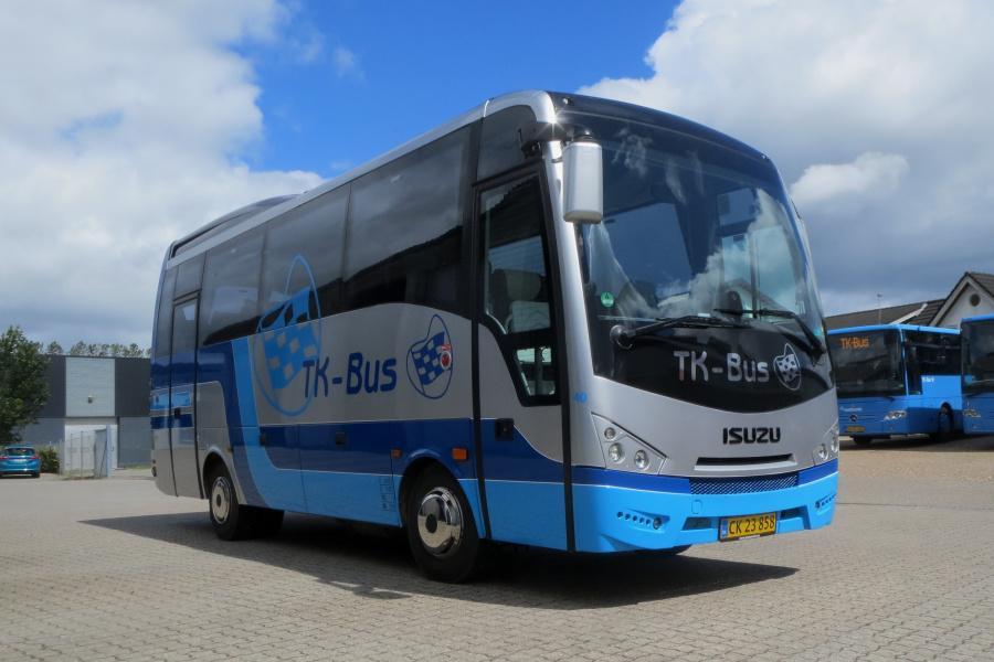 TK-Bus CK23858 ved garagen i Viborg den 3. juli 2019