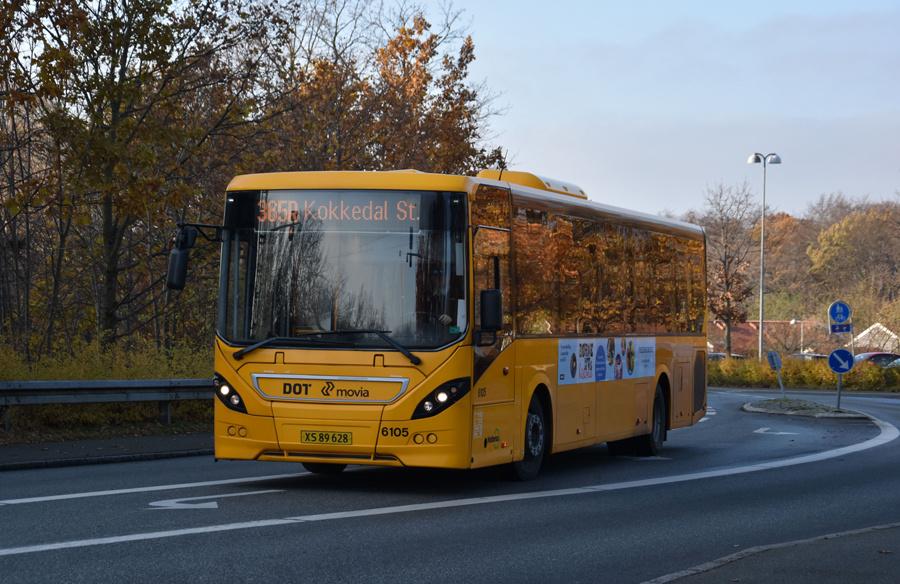 Nobina 6105/XS89628 på Ådalsvej i Hørsholm den 14. november 2019