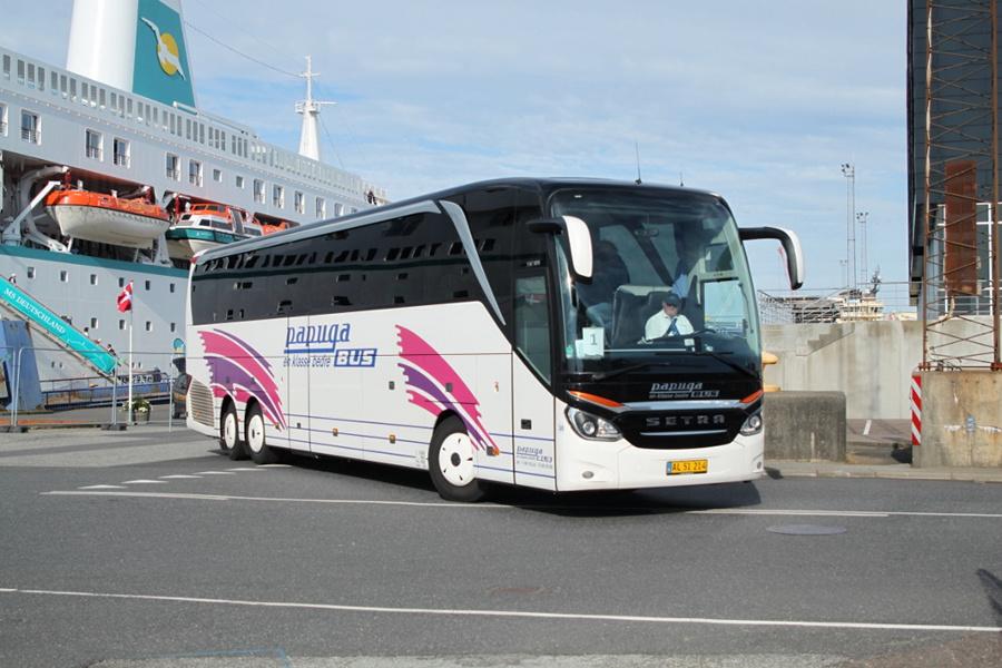 Papuga Bus 38/AL51214 på Englandskaj i Esbjerg den 10. juli 2019