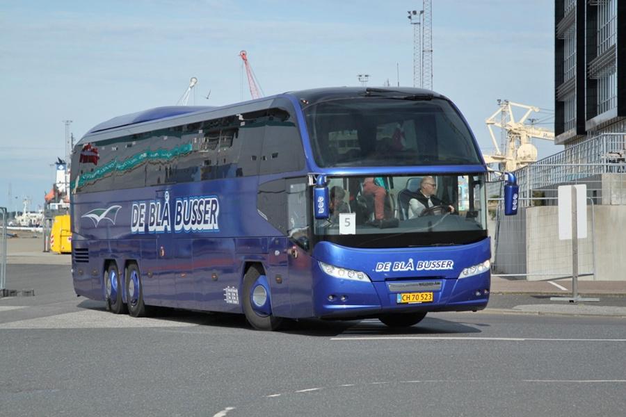 De Blå Busser Esbjerg CH70523 på Englandskaj i Esbjerg den 10. juli 2019