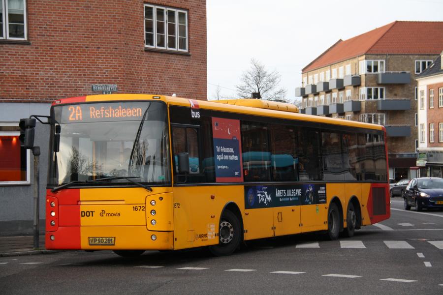 Arriva 1676/VP90281 ved Brønshøj Torv den 1. december 2019