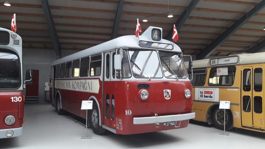 Odense Bytrafik 10/M17960 på Sporvejsmuseet Skjoldenæsholm i 2018