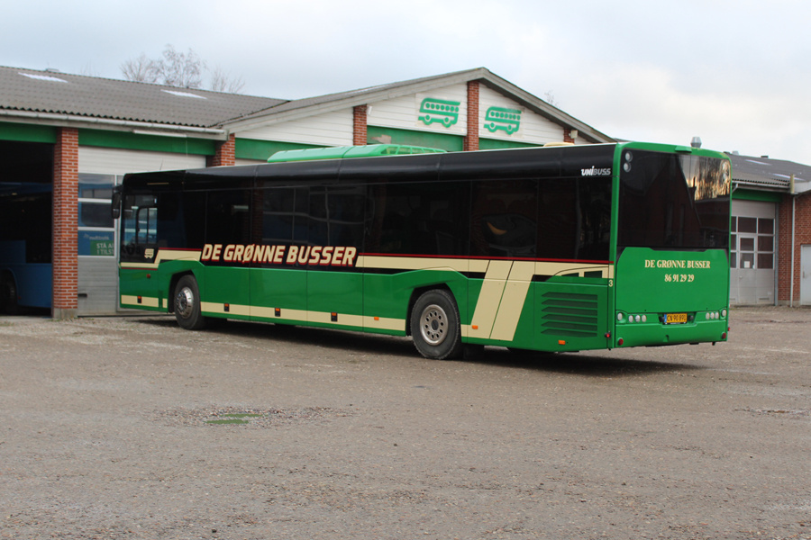 De Grønne Busser 3/CN90891 på Samsøvej i Hinnerup den 13. december 2019