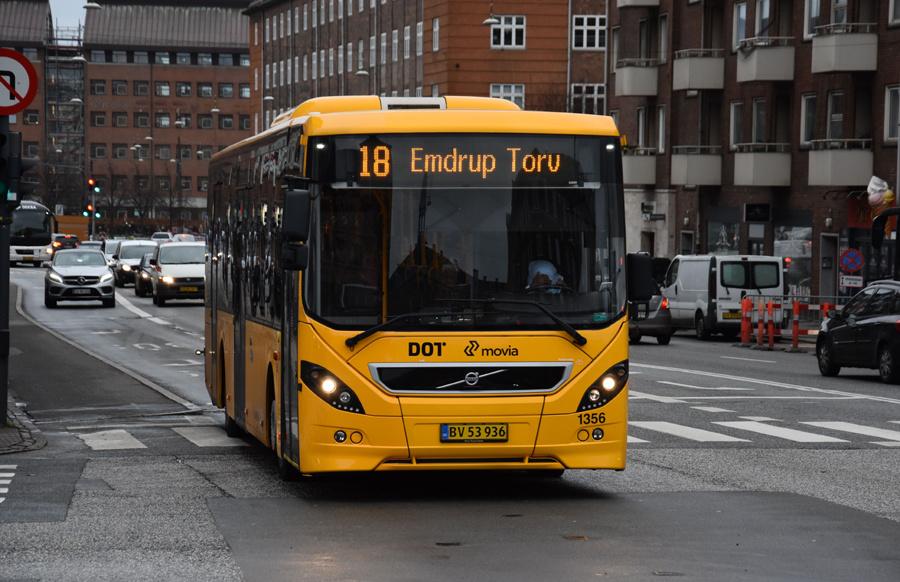 Arriva 1356/BV53936 på Toftegårds Allé i Valby den 4. december 2019