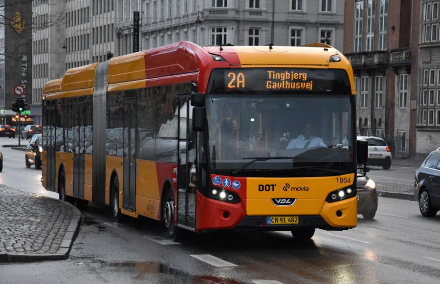 Arriva 1864/CN91482 på H.C.Andersens Boulevard i København den 24. december 2019