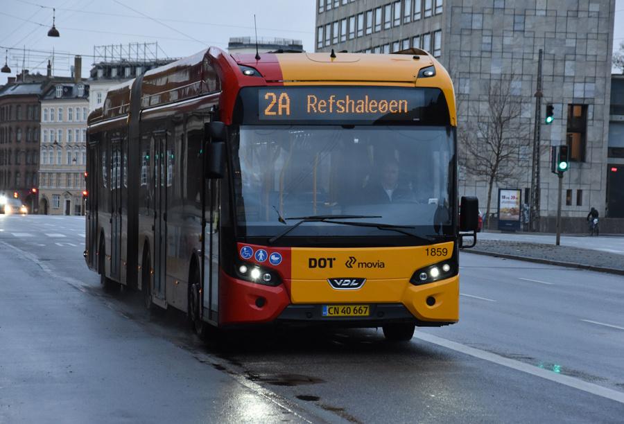 Arriva 1859/CN40667 på H.C.Andersens Boulevard i København den 24. december 2019