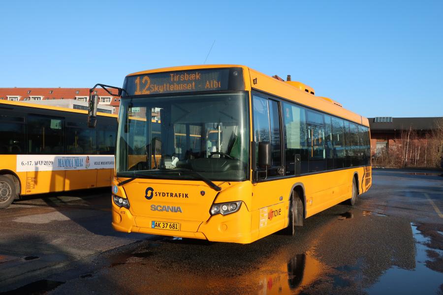 Umove 672/AK37681 på Gammelhavn i Vejle den 4. januar 2020