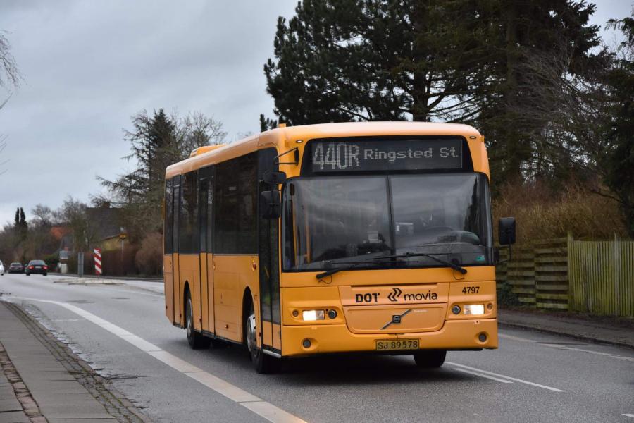 Ditobus 4797/SJ89578 på Ringstedvej i Haslev den 5. februar 2020