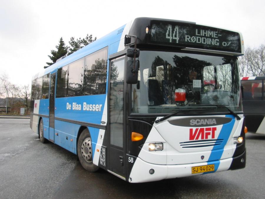 De Blaa Busser 58/SJ94029 på Skive Rtb. den 13. februar 2006