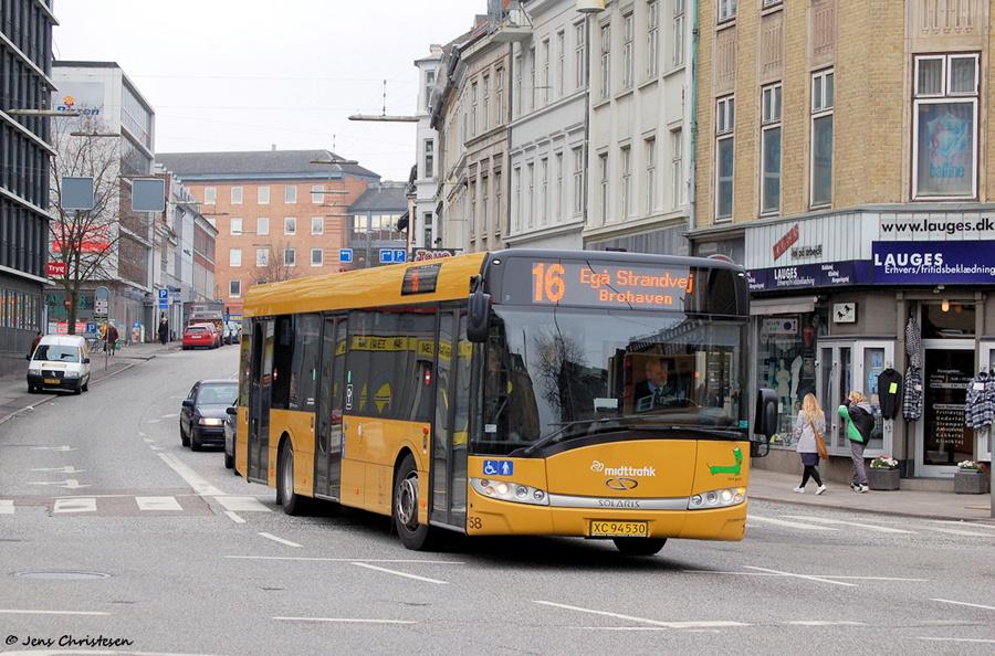 Århus Sporveje 158/XC94530 på Banegårdsgade i Århus den 16. marts 2009