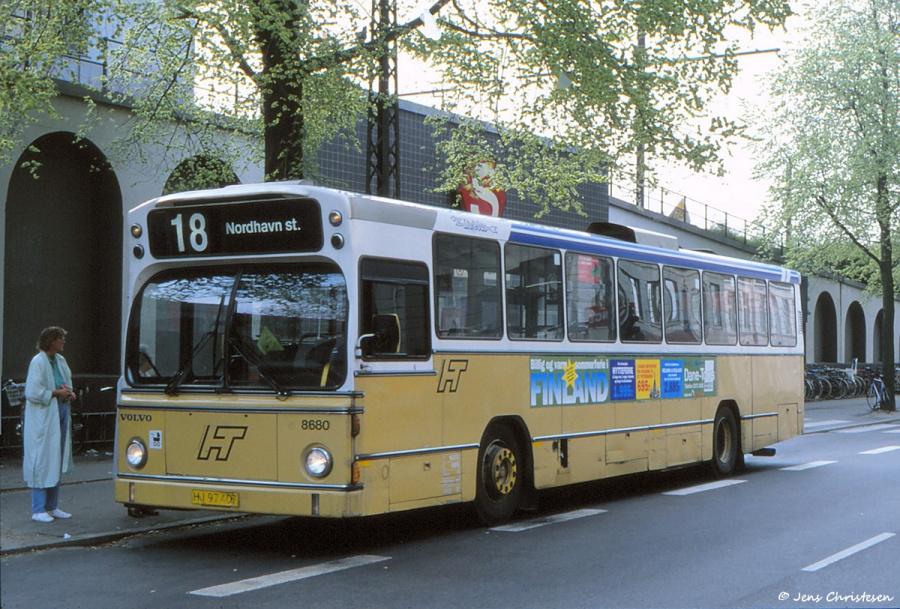 Linjebus 8680/HJ97407 i København ved Nordhavn St. den 2. maj 1993