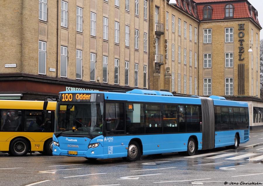 Arriva 2709/BX97478 ved Banegårdspladsen i Århus den 29. februar 2020