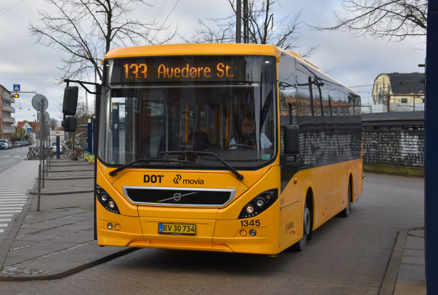 Arriva 1345/BV30734 ved Valby Station den 25. januar 2020
