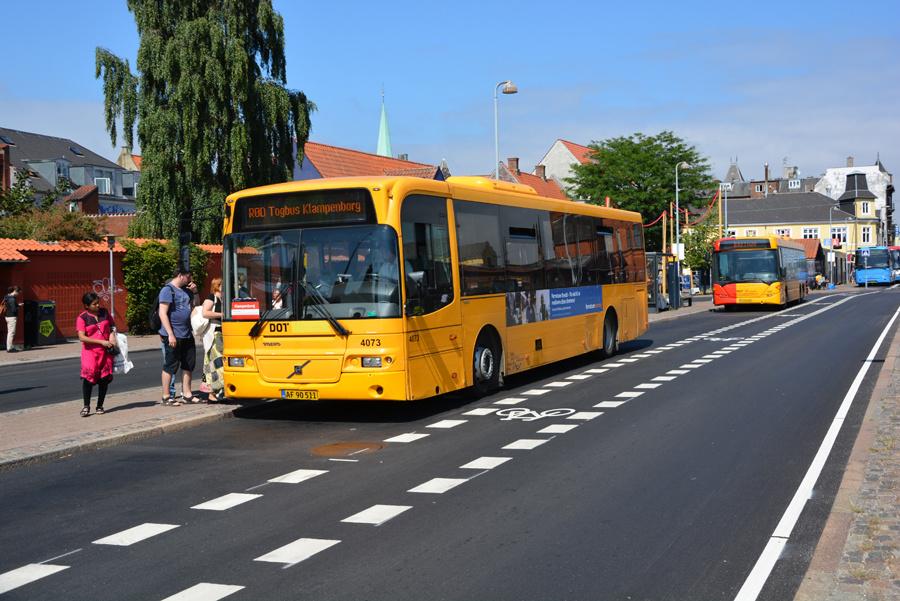 De Blaa Omnibusser 4073/AF90511 ved Helsingør Station den 15. juli 2018