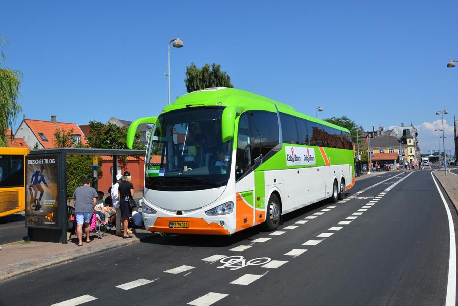 Aarhus Turistfart BE79075 ved Helsingør Station den 16. juli 2018