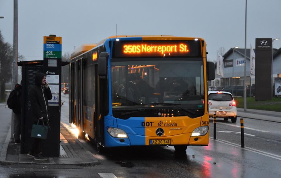 Anchersen 3034/AZ20341 ved Malmparken Station i Ballerup den 27. januar 2020