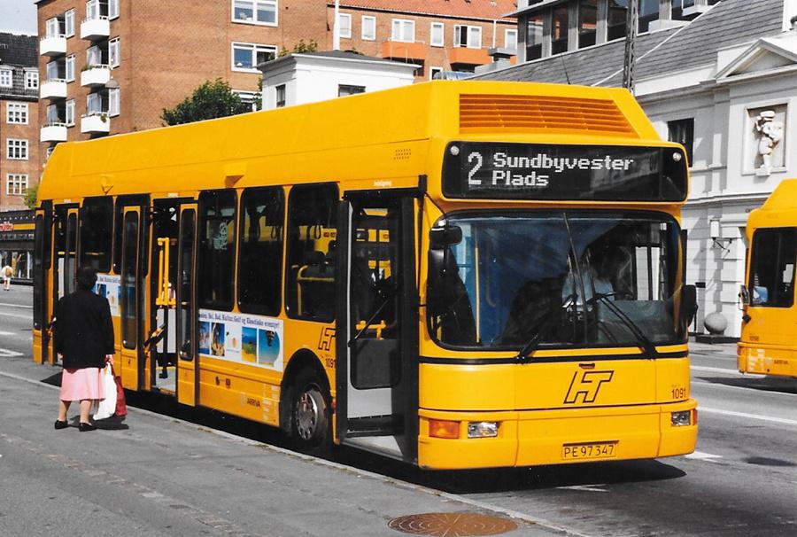 Arriva 1091/PE97347 på Amagerbrogade i København i september 1999