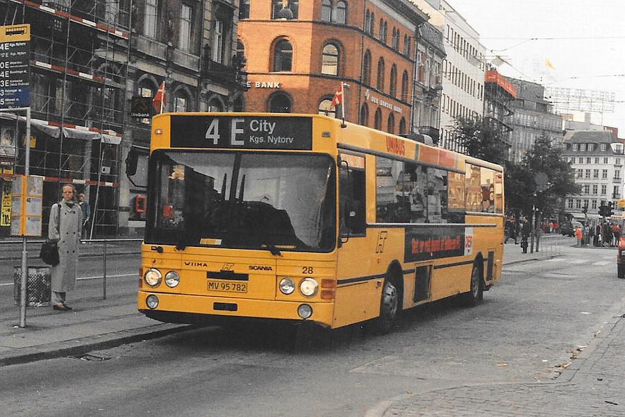 Unibus 28/MV95782 i Nørre Voldgade i København den 8. september 1994