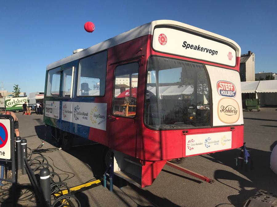 Køge Sportevents speakervogn ifm. cykelløb i Køge den 27. maj 2017