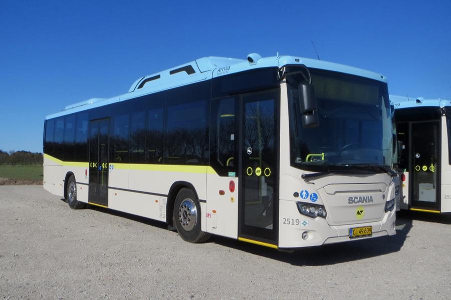Arriva 2519/CL49609 i Brønderslev den 9. april 2020