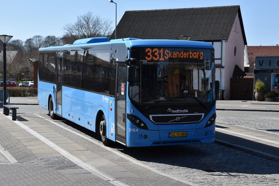 Arriva 3164/AG70088 i Odder den 15. april 2020