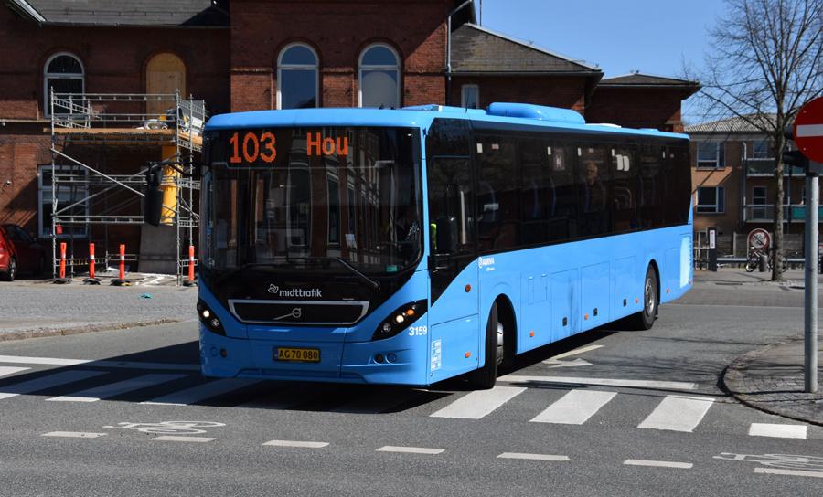 Arriva 3159/AG70080 i Odder den 15. april 2020