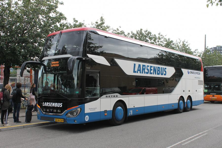 Københavns Bustrafik 83/CK84369 på Ingerslevsgade i København den 9. juli 2020