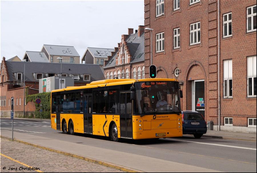Tide Bus 8492/CM24661 på Jernbanegade i Esbjerg den 3. juli 2020