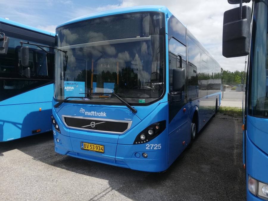 Arriva 2725/BV53934 i Randers den 28. juni 2020