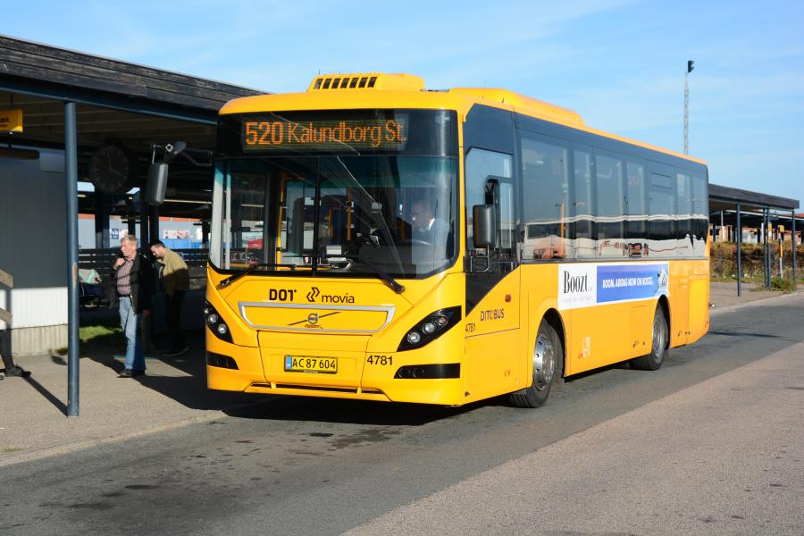 Ditobus 4781/AC87604 ved Kalundborg Station den 13. oktober 2018