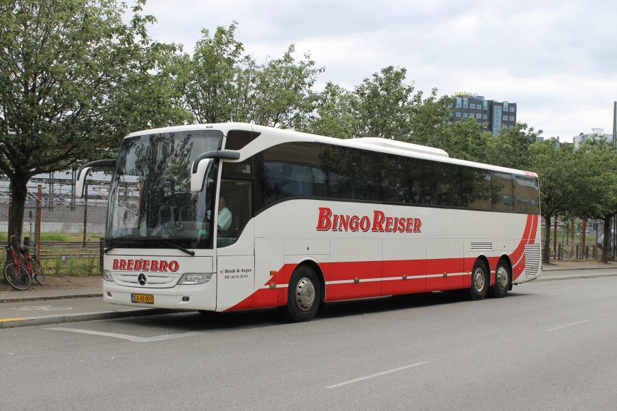 Bingo Rejser CA40007 på Ingerslevsgade i København den 11. juni 2020.