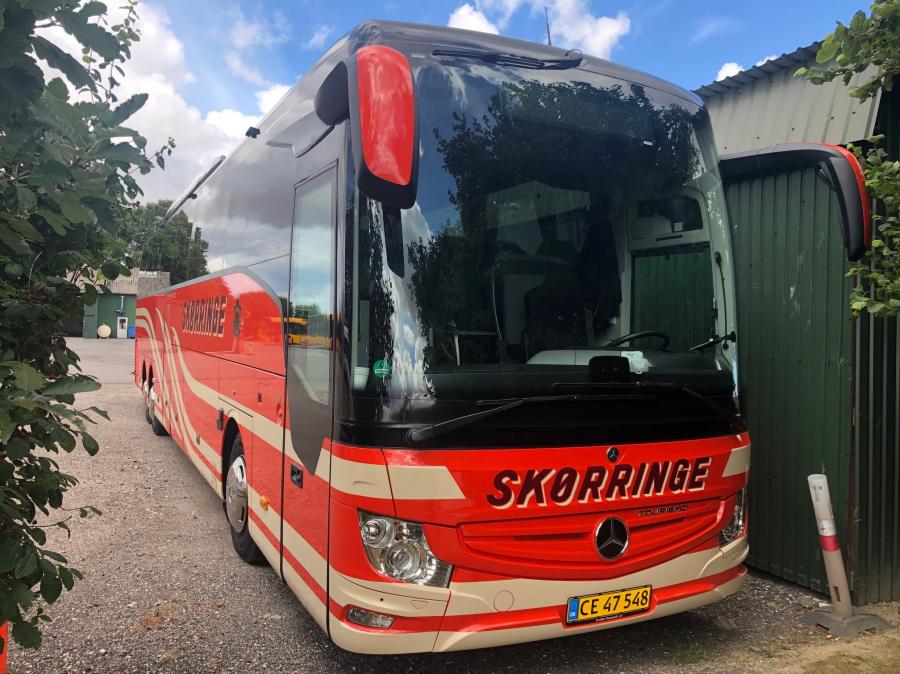 Skørringe Turistbusser CE47548 i garagen den 22. juli 2020