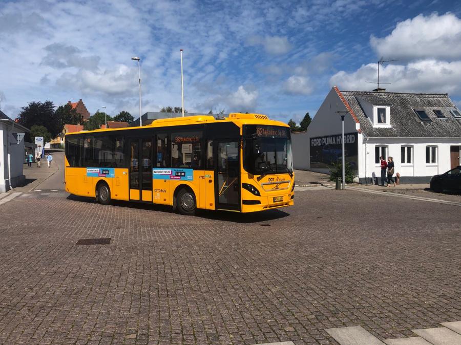 Ditobus 4782/AC87606 på Algade i Nykøbing Sjælland den 9. juli 2020