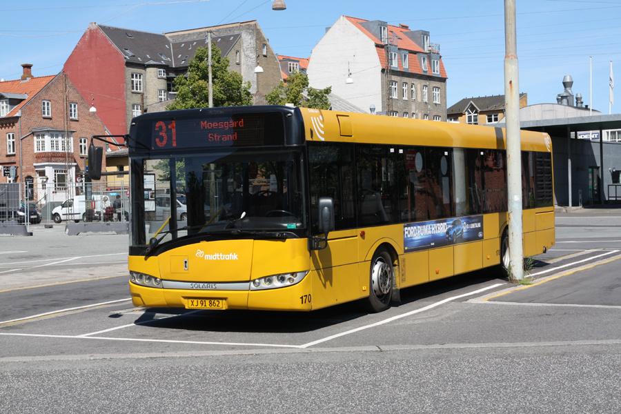 Århus Sporveje 170/XJ91862 på Århus Rutebilstation den 31. juli 2020