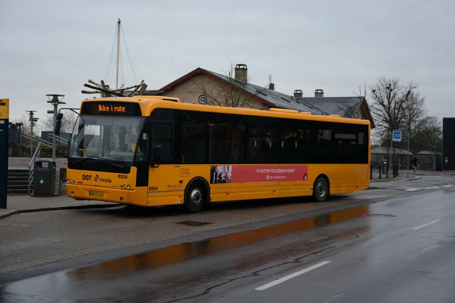 Keolis 8524/AW95414 ved Hvalsø Station den 15. december 2018