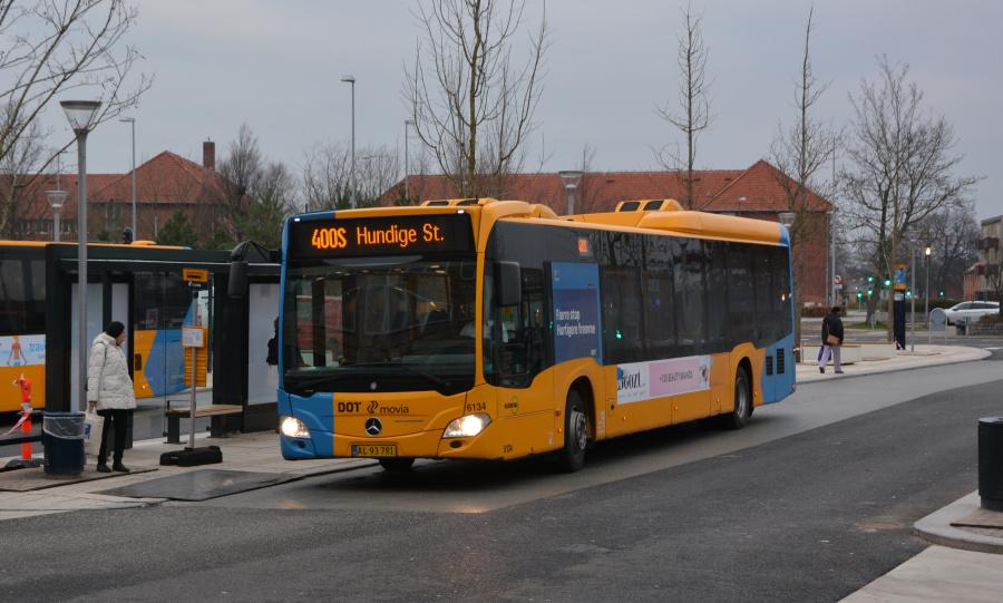 Nobina 6134/AL93781 ved Ballerup Station den 17. december 2018