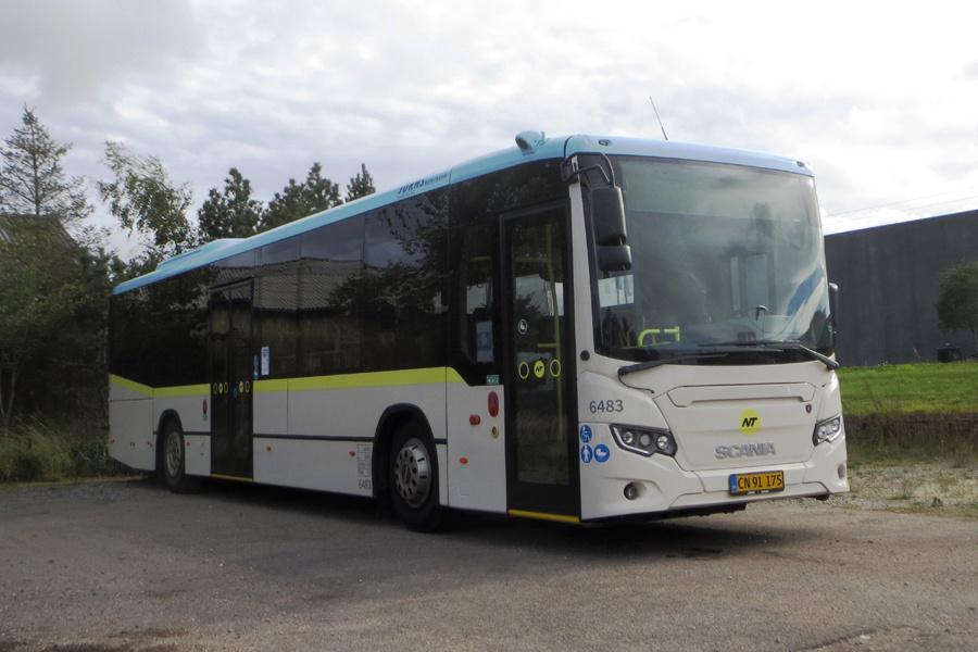 Jørns Rutetrafik 6483/CN91175 i Hjørring den 8. september 2020