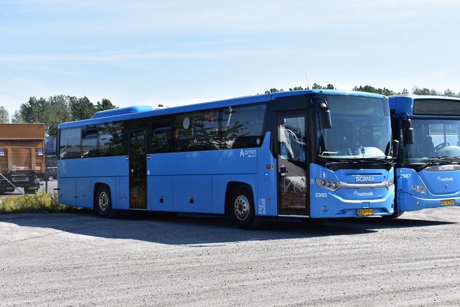 Arriva 2393/BX97516 på Suderholmen i Randers den 17. august 2020