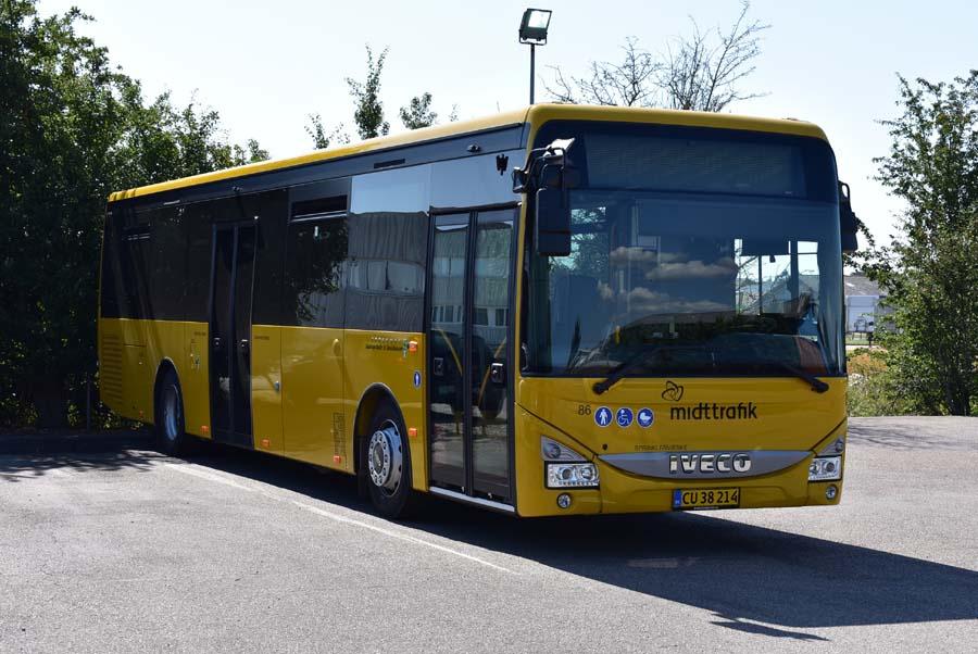 Faarup Rute- og Turistbusser 86/CU38214 på Mirabellevej i Randers den 17. august 2020
