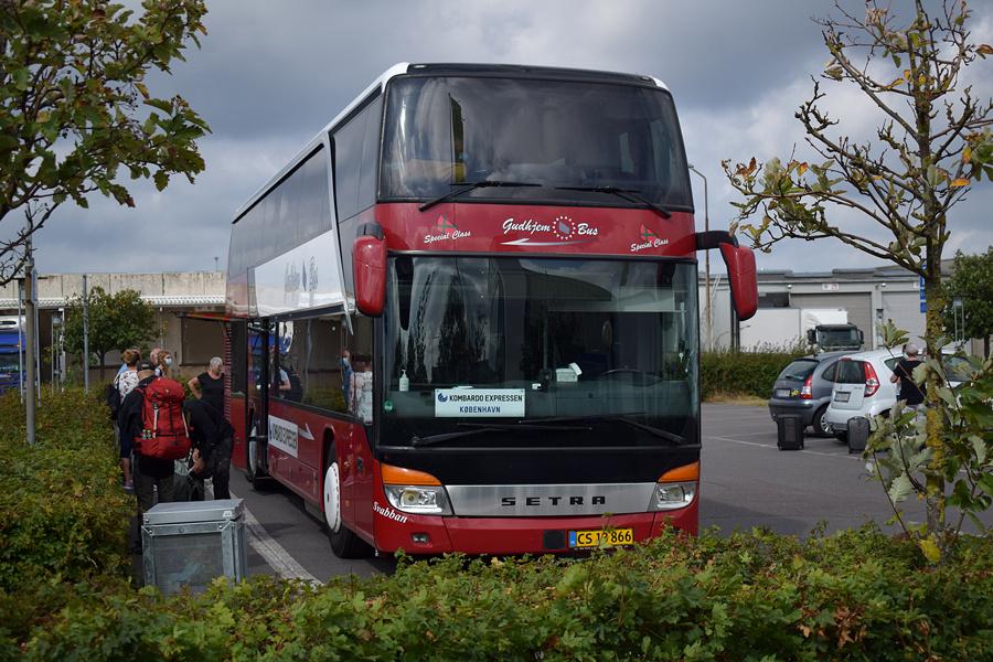 Gudhjem Bus CS13866 ved Velkomstcentret i Rønne den 23. august 2020