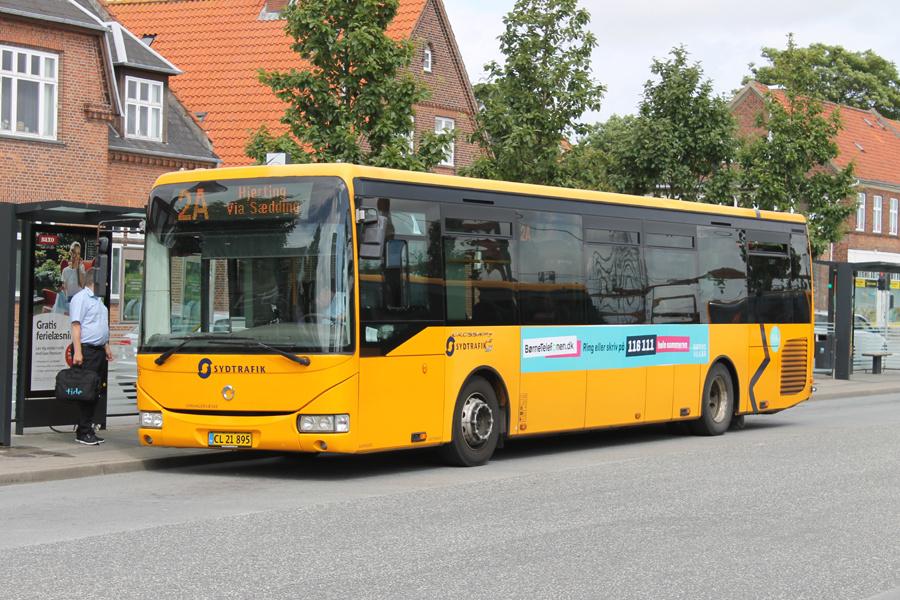 Tide Bus 8465/CL21895 ved Esbjerg Station den 28. juli 2020