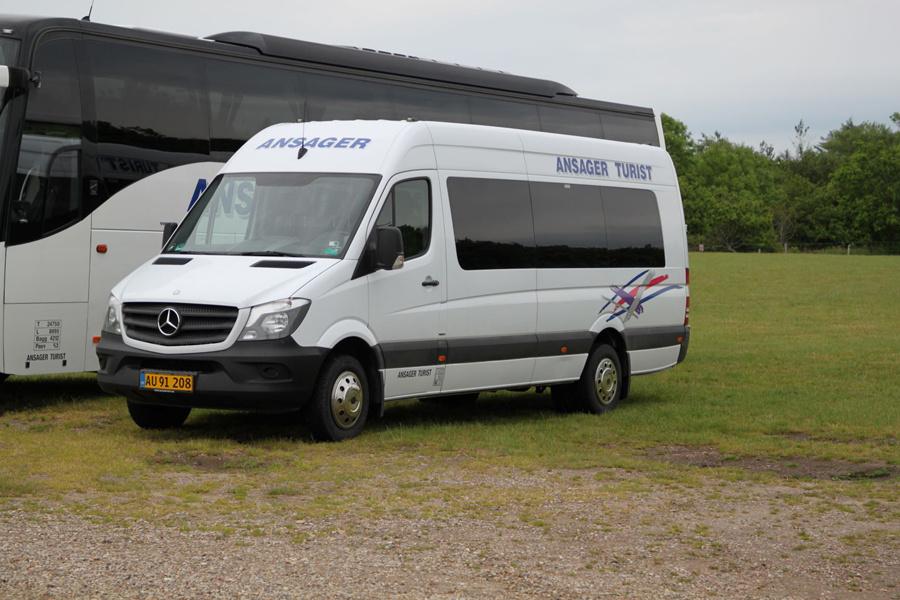 Ansager Turist AU91208 ved Ribe Vikinge Center syd for Ribe den 11. juni 2020