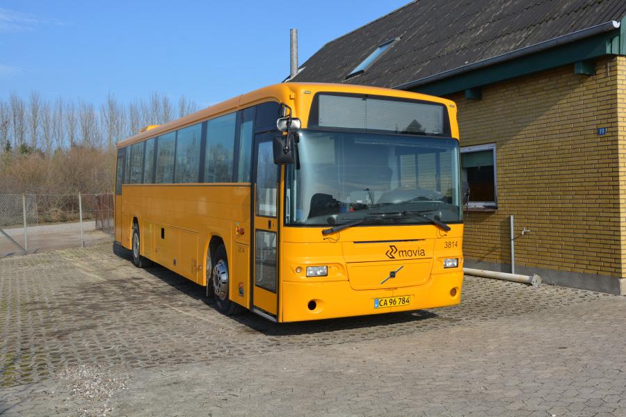 Egons Turist- og Minibusser 3814/CA96784 ved garagen i Slagelse den 26. februar 2019