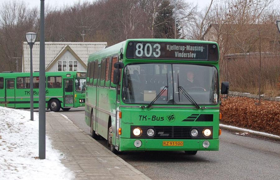 TK-Bus 6/RZ93500 på Kjellerup Rutebilstation den 18. februar 2008