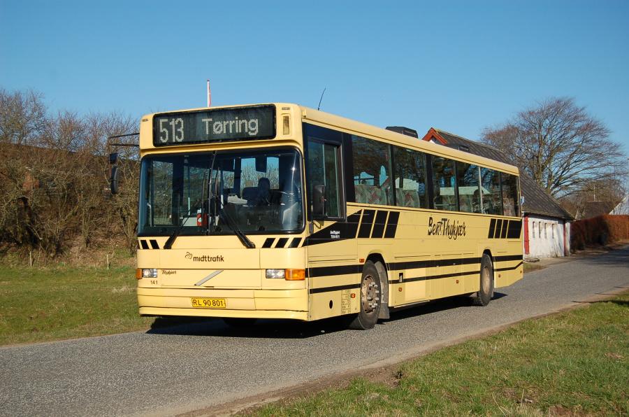 Bent Thykjær 141/RL90801 på Vindelevvej nær Vindelev 11. marts 2013