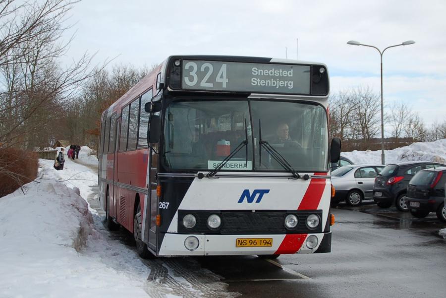 Pan Bus 267/NS96194 i Snedsted den 1. marts 2009