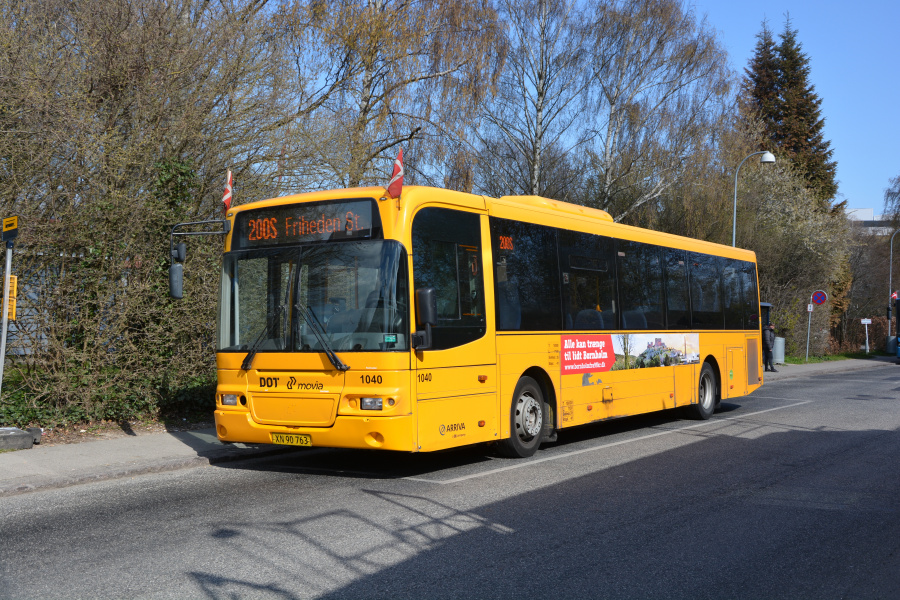 Arriva 1040/XN90763 på Klausdalsbrovej i Buddinge den 16. april 2019