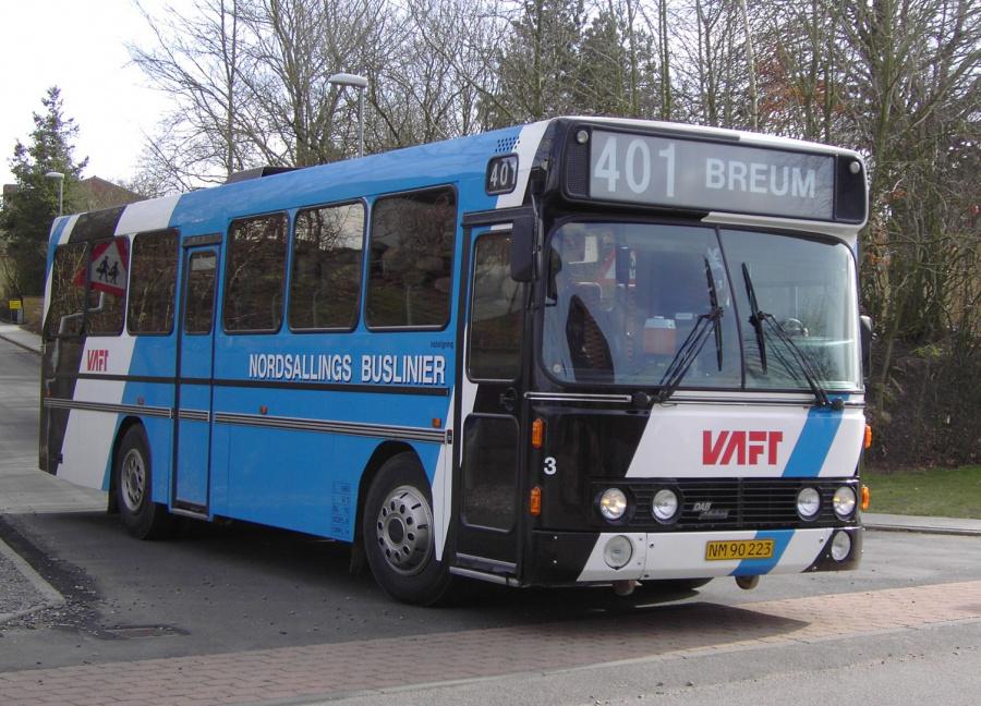 Nordsallings Buslinier 3/NM90223 i Breum den 10. marts 2008
