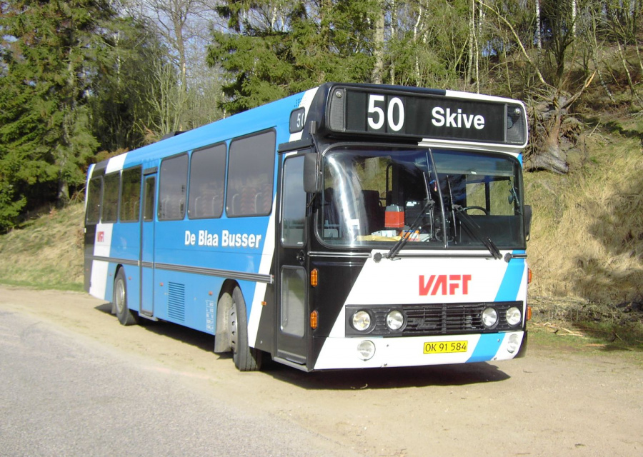 De Blaa Busser 55/OK91584 nær Fiskbæk den 16. marts 2008
